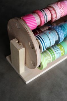 Washi tape storage wheel >>>> Amy Tangerine | All Ready Memories Washi Tape Carousel