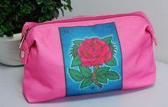 "9"" La Rosa Loteria Make Up Bag from ""La Cheeky"" #LaCheeky #CosmeticBags - also available in La Sirena and La Corona..."