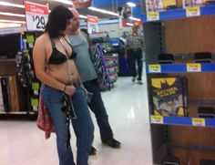 Ladies, to those of you that are comfortable with your body enough to go in a public place wearing something like this.Please know that there is a time and place for this look and out of the house is not it. So tacky! Go To Walmart, Only At Walmart, People Of Walmart, Funny People, Walmart Pictures, Funny Pictures, Walmart Shoppers, Having A Bad Day, Really Funny