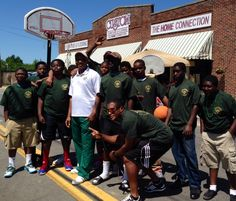 EGSC coaches with young men from Swainsboro at Pine Tree Festival 2014