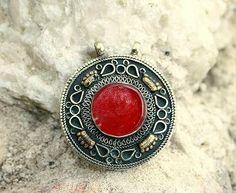 Afghan carnelian pendant - look4treasures on Etsy