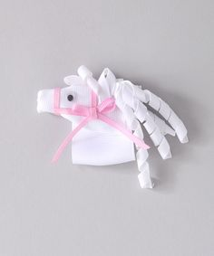 Look at this White Horse Korker Clip on #zulily today!