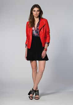 BOBSTORE – Lookbook inverno 2014 - red and black, red leather jacket