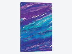 Agate Magic - Purple Aqua by Julia Di Sano 1-piece Canvas Artwork