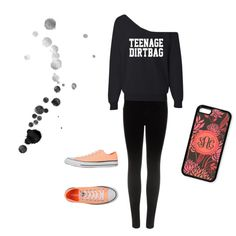 """""""I'm Just A Teenage Dirtbag Baby"""" by georgiabrown-i on Polyvore.   Outfits with leggings.  Outfits for teens.  #iphone #togildthelily"""