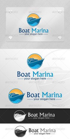 Boat Marina  Marine & Transport Logo — Vector EPS #nachoda #water • Available here → https://graphicriver.net/item/boat-marina-marine-transport-logo/5982329?ref=pxcr