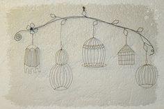 cages fines fil de fer by latelierdesof