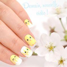 Cute Nail Art, Gel Nail Art, Gel Nails, Duck Nails, Baby Nails, Animal Nail Art, Glittery Nails, Holiday Nail Art, Easter Nails