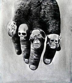 Mehmet Dere (Turkey) - Cannibal, 2011                 Drawings: Charcoal