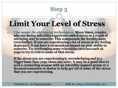 Limit Your Level of Stress