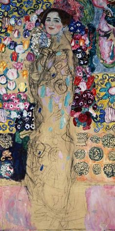 Paintings of Women Klimt | Image: Gustav Klimt - Woman portrait