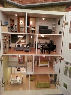 Modern doll house - rare and intriguing! #dollshouse festival
