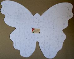 Wedding Butterfly Guest Book Puzzle w/ White by GuestBookPuzzles, $50.00