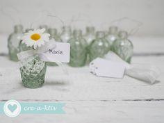 Hochzeitsdeko - ♥10xTischdeko,Platzkarte,Gastgeschenk ♥neue Form♥ - ein Designerstück von cre-a-ktiv bei DaWanda