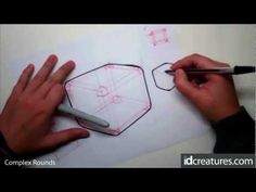 Sketching tutorial How to draw Complex Rounds
