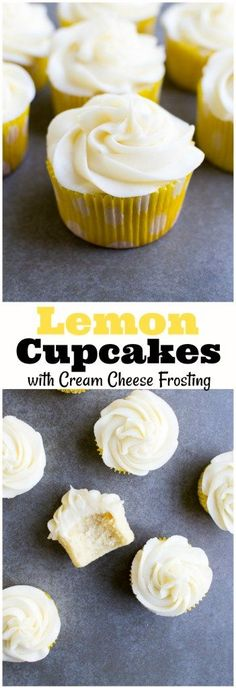 Lemon Cupcakes with Cream Cheese Frosting - Stuck On Sweet cupcakes decoration hochzeit ideas ideen recipes rezepte cupcakes cupcakes cupcakes Cupcake Cream, Cupcakes With Cream Cheese Frosting, Lemon Cupcakes, Mini Cupcakes, Cupcake Cakes, Strawberry Cupcakes, Birthday Cupcakes, Lemon Cream Cheese Icing, Cream Cheese Pie