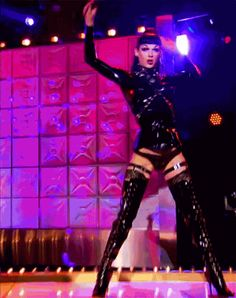 violet chachki leather and lace challenge - Google Search
