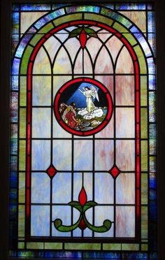 Stained Glass Windows at Mt. Olive Holiness Church in Colquitt, GA