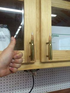 50 Cheap Man Cave Ideas For Men - Low Budget Interior Design Cool Cheap Man Cave Ideas Bullet Cabinet Handles Reloading Room, Hunting Cabin Decor, Hunting Bedroom, Bullet Crafts, Gun Rooms, Man Cave Garage, Garage Bar, Garage Ideas, Man Cave Home Bar