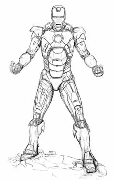 Iron Man Walking Coloring Page  Kids Coloring Pages  Pinterest