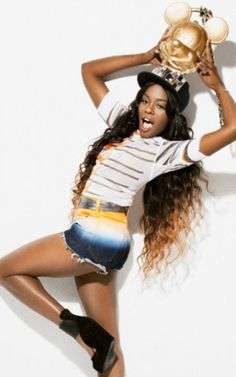 Azealia Banks goes playful and cute in recent photo shoot.