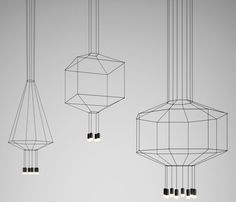 Lighted Line Drawings: WIREFLOW by Arik Levy for Vibia in home furnishings…