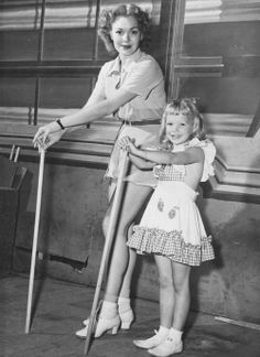 Jane Wyman with daughter Maureen