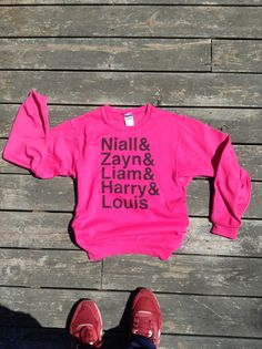 One Direction Sweatshirt - Niall, Zayn, Liam, Harry, & Louis Sweatshirt - All Sizes Available - Item 010