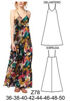 como hacer un vestido solero - Bing images Easy Sewing Patterns, Clothing Patterns, Dress Patterns, Sewing Clothes, Diy Clothes, Clothes For Women, Fashion Sewing, Boho Fashion, Romper Pattern