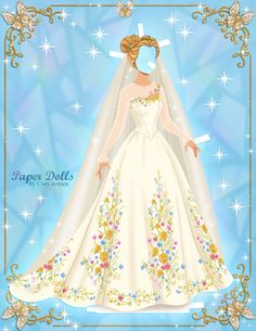 Clothes for Cinderella paper doll