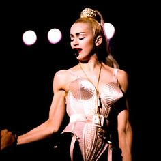The inimitable Madonna and THAT  corset by Jean-Paul Gaultier