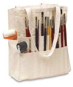 Artist Bag, Artist Supplies, Design Crafts, Canvas Tote Bags, Diy Art, Sewing Projects, Creations, Painting, Drawing Course
