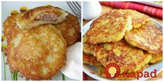 Výborný nápad, ako pripraviť obľúbenú pochúťku - zemiakové placky trochu inak. Vyskúšajte ich tentokrát na ukrajinský spôsob a máte perfektný a sýty obed pre celú rodinu. Sweet Recipes, Pancakes, French Toast, Breakfast, Food, Morning Coffee, Essen, Pancake, Meals