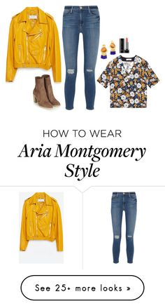 """""""Aria Montgomery Inspired Outfit"""" by daniellakresovic on Polyvore featuring Zara, Sandro, Frame Denim and Marc Jacobs"""
