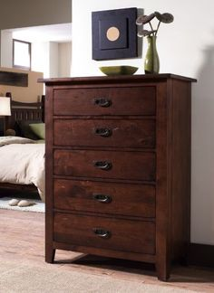 Drawer Chest Stonewater is crafted from Alder and selected solid hardwoods $1207.80