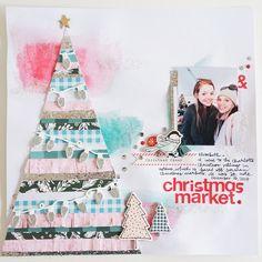 Christmas Market Scrapbook Layout by laurarahel at Studio Calico