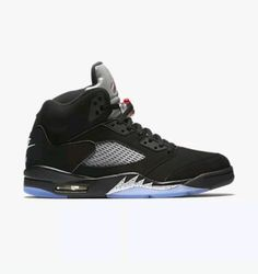 Men's Nike Air Jordan V 5 Retro OG Black Metallic Silver 845035 003 Size 15