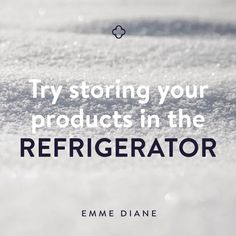 ✨SKIN TIP✨ In the hot summer months☀️, store your face serums and creams in the refrigerator for a refreshing, cooling sensation on the skin! ❄️❄️❄️ The cooler temperature also soothes redness and will help preserve the longevity of your products. Find more skin tips at www.emmediane.com/blog/
