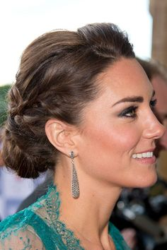 An elegant plaited up-do for a concert at the Royal Albert Hall.
