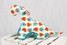 Sensory Toy Dinosaur Owls Teal Mascot Newborn Gift by NuvaArt