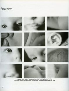 """Primapara, from the series """"Bathing Series. Photos by Mary Kelly, 1974"""