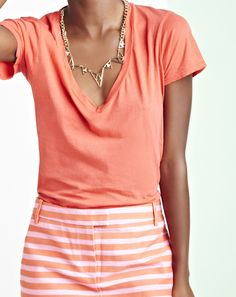 perfectly coral...we'll need a tan to wear this one:)