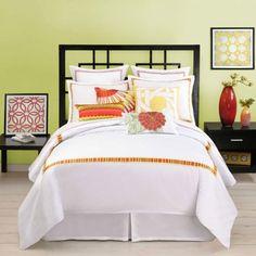 beautiful bedding & headboard