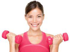 video gym biceps halteres