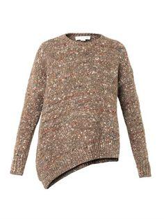 Asymmetric wool-blend sweater   Stella McCartney   MATCHESFASH...