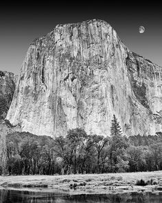 Get classic photography of Yosemite for a fraction of the cost of buying from a gallery. This classic photograph of El Capitan from Yosemite