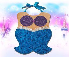 MERMAID Princess Toddler Bib - PDF Pattern. $3.99, via Etsy.