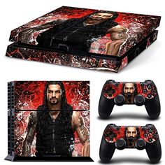 Skin & Controllers Skin Vinyl Sticker For PlayStation 4 WWE Wrestling Reigns Playstation Consoles, Playstation Games, New 3ds, Ps4 Skins, Nintendo News, Video Game Console, Reign, Xbox One, Wii