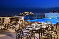Rooftop restaurant in Athens