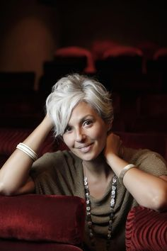 Constance Arena - gray-haired thirties...